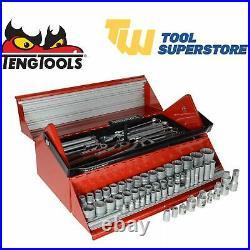Teng Tools TC187 187 Piece Mega Rosso Mechanic Tool Kit Barn Door ToolBox Socket