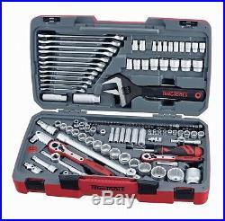 Teng Tools TM127 127 Piece 1/4 1/2 and 3/8 Drive Socket Tool Set