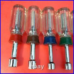 Vintage 3/16-1/2 Craftsman -H- 8 piece SAE Standard Stubby Nut Driver Set USA