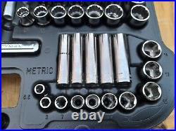 Vintage CRAFTSMAN 9-33596 Mechanics Tool Set 96pc Socket Ratchet Metric SAE USA
