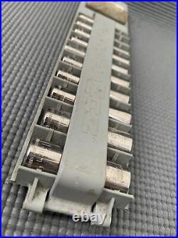 Vintage Craftsman 31 Pc. Ratchet Socket SAE/Metric Mechanics Tool Set USA 1/4