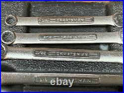 Vintage Craftsman 32pc SAE Metric Combination Wrench Set 46937 Made In USA