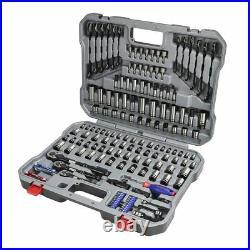 WORKPRO 164-piece Mechanics Tool Kit Black Oxide Coating Drive Socket Set w