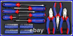WORKPRO 408-Pcs Mechanics Tool Set with 3-Drawer Heavy Duty Metal Box (W009044A)