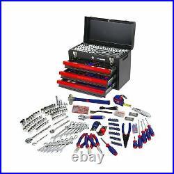 WORKPRO 408 Piece Mechanics Tool Set 3 Drawer Heavy Duty Metal Box W009044A New
