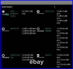 Wera 826 T Kraftform Kompakt Turbo 1 Screwdriver Set 19 Piece Metric 05057482001