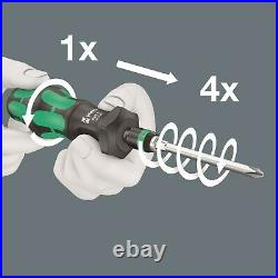 Wera 826 T Kraftform Kompakt Turbo 1 Screwdriver Set 19 Piece SAE 05057483001
