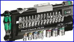 Wera Tool Check Mini Ratchet Screwdriver Bit Socket 1/4 Drive Imperial Set 39 Pc