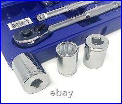 Williams Tools 1/2 Dr. 24-piece Sae & Metric 12-pt. Socket Ratchet Set