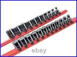 Williams Tools 3/8 Drive 23-Piece Metric & SAE 6-Point Socket Set