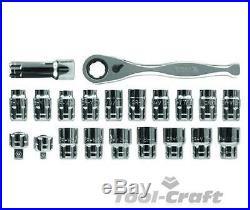 Yato professional go-through socket set 21 pcs quick release 1/2 1/4 YT-3865