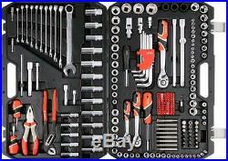 Yato professional ratchet socket set 1/2, 1/4, 3/8 225 Pcs metric&SAE YT-3894